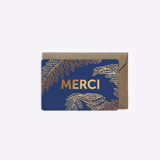 Image of MINI-CARTE FOUGERE bleu