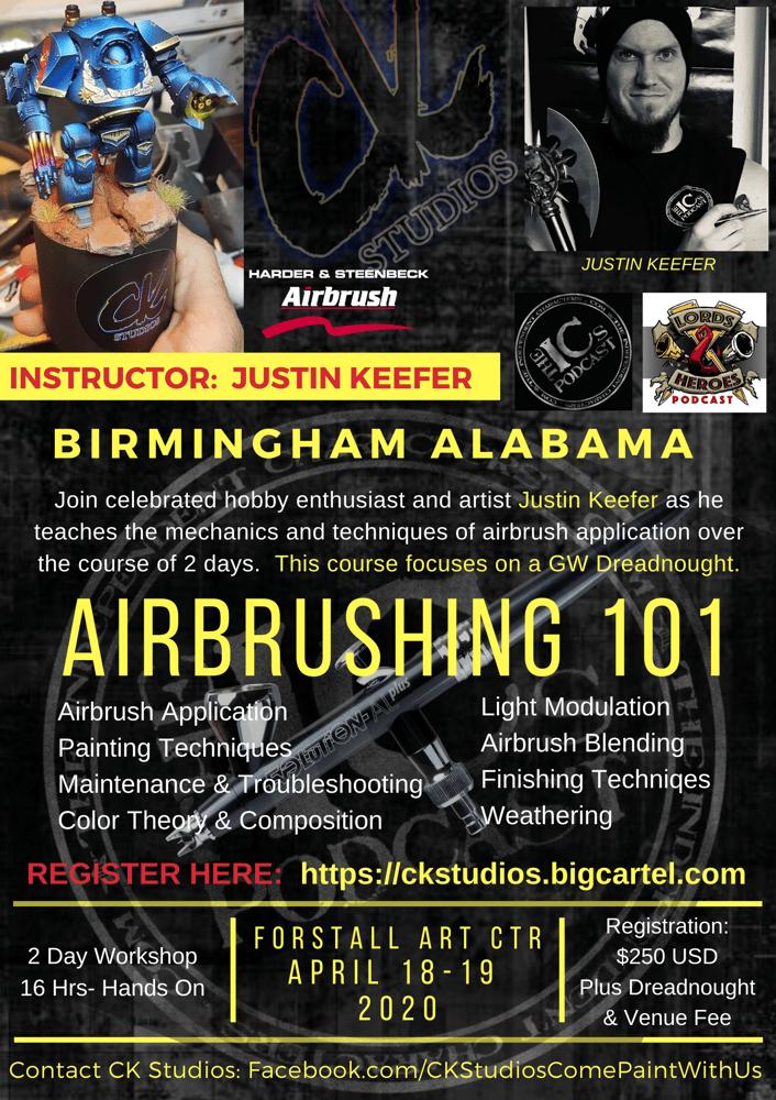 Image of Airbrushing 101 - Alabama, APRIL 2020