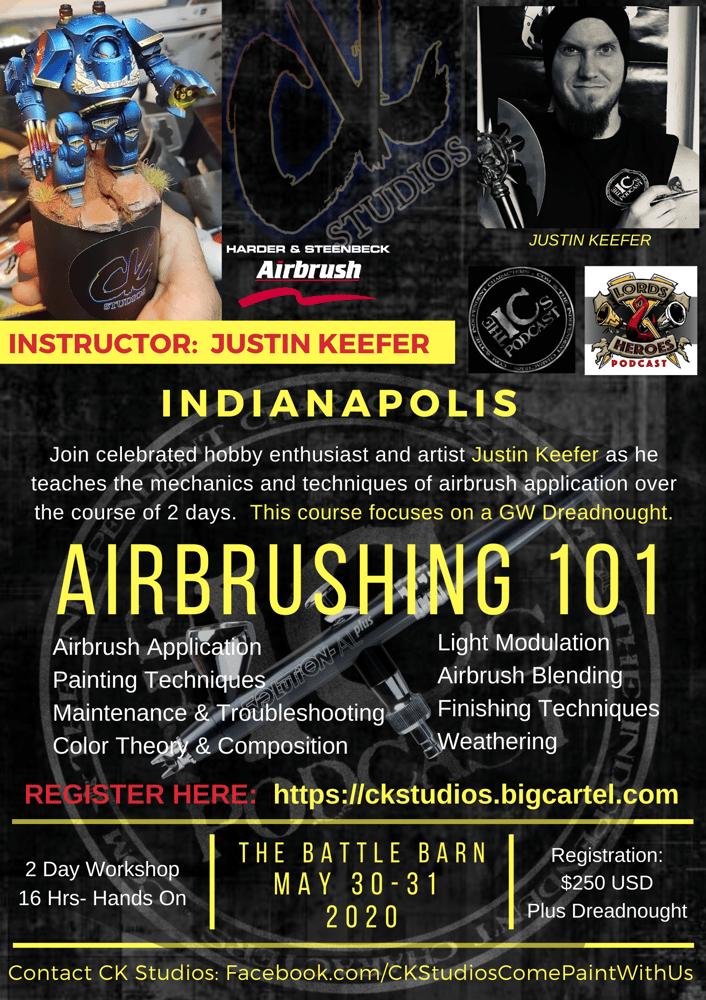 Image of Airbrushing 101 - Indianapolis, May 2020