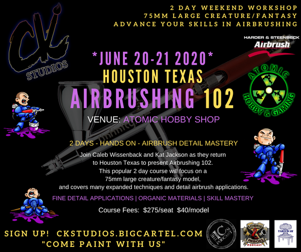 Image of Airbrushing 102 - Houston TX, June 2020