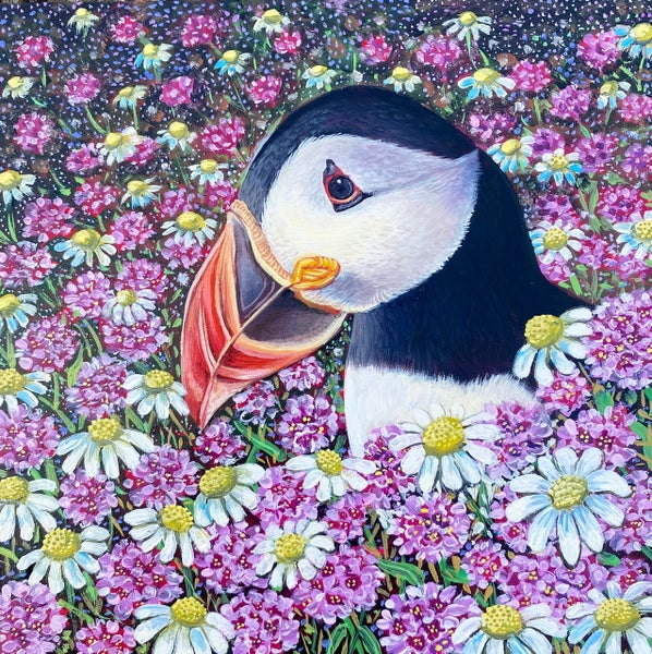 Image of Daisy puffin ALL sizes print