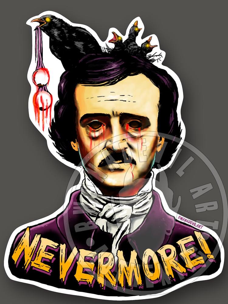 Image of Edgar Allan Poe (Nevermore!) Vinyl Sticker