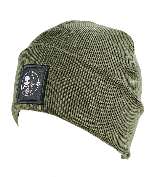 Image of Olive Patched Beanie