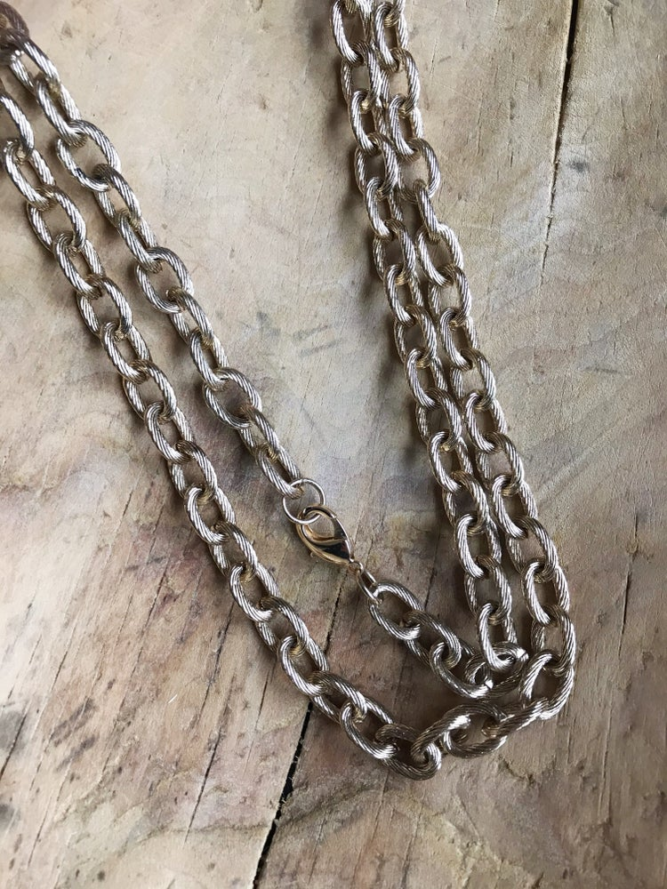 Image of Golden Linked Chain Belt/Necklace