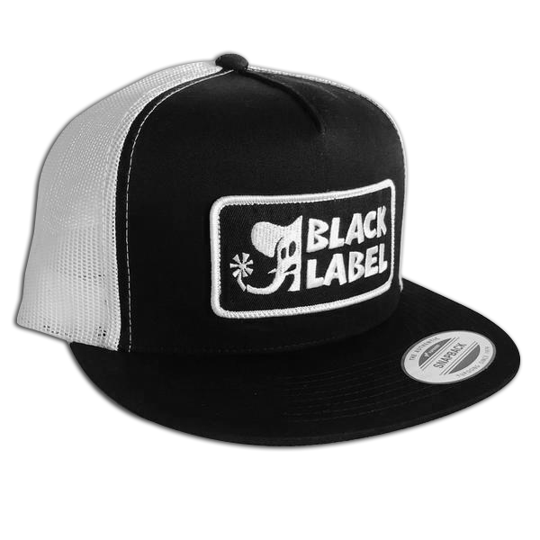 Image of Elephant Sector Patch Hat Black front/White mesh