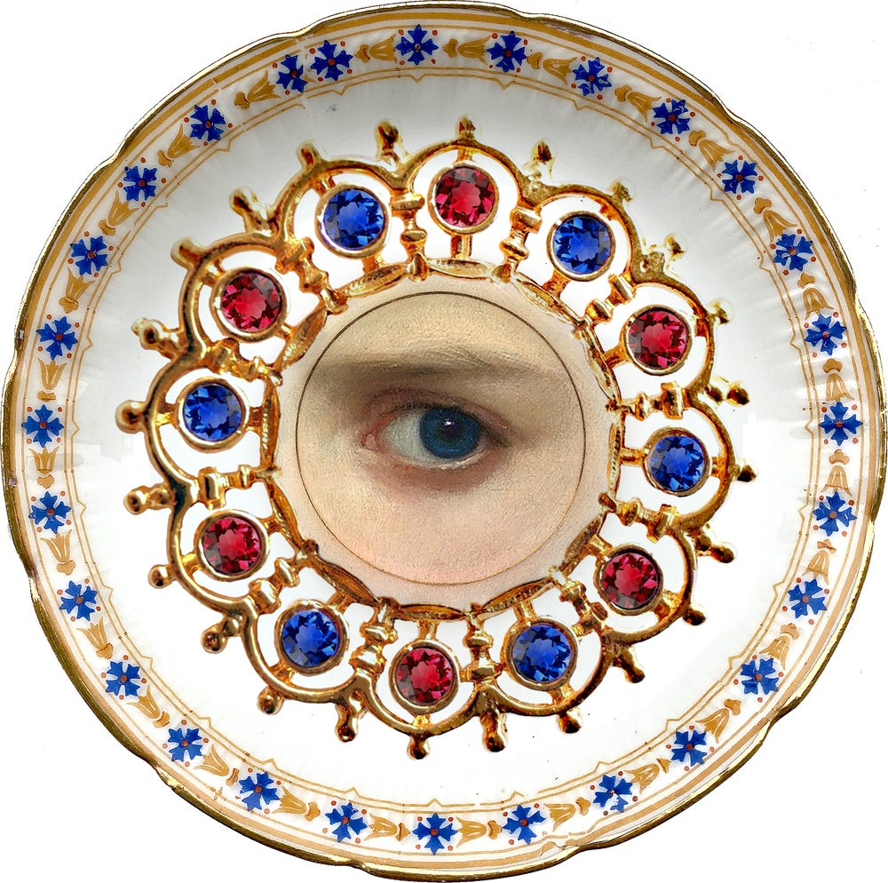 Image of Lover´s eye - Rubí - Vintage Porcelain Plate - More than 120 Years Antique - #0705