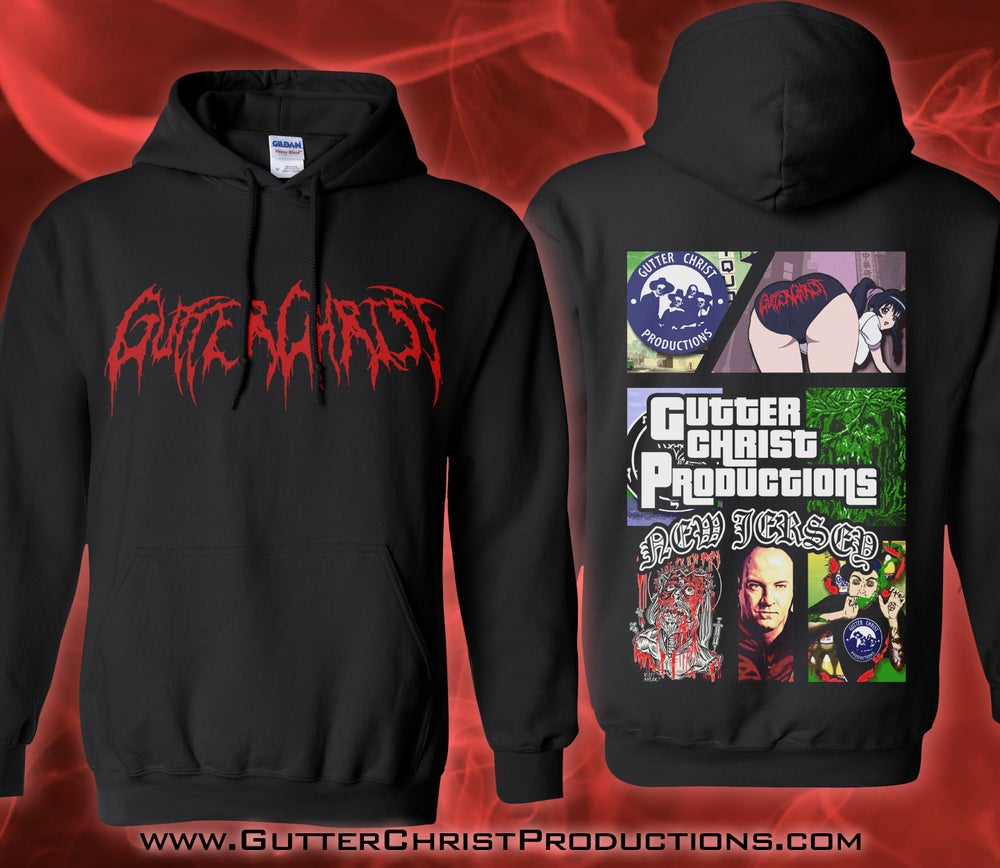 Image of GUTTER CHRIST GTA RIP HOODIE (IN STOCK)