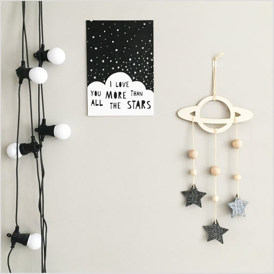 Image of Planet & Stars Wall Hanging