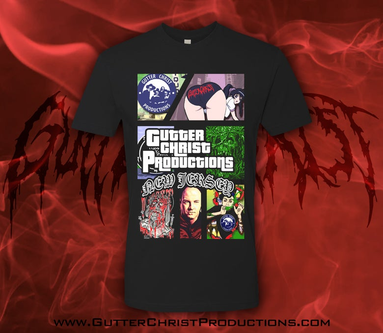 Image of GUTTER CHRIST GTA RIP T SHIRT (IN STOCK)