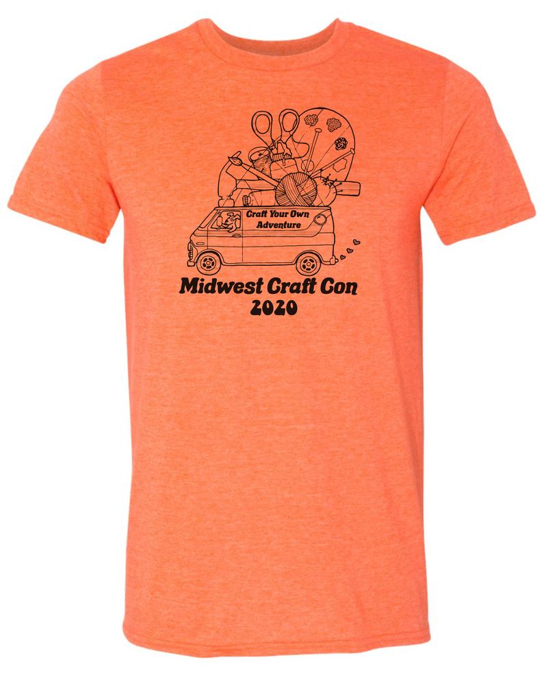 Image of Orange classic T-shirt: Craft Your Own Adventure