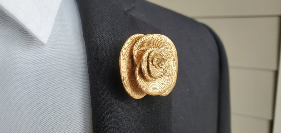 Image of Gold Flower Lapel Pin