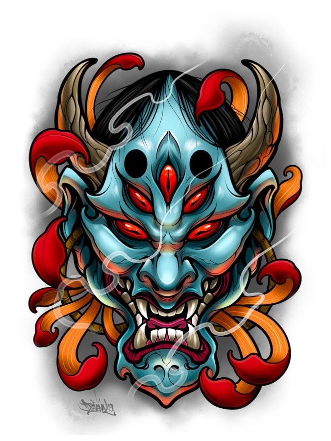 Image of 5x7 Oni Head
