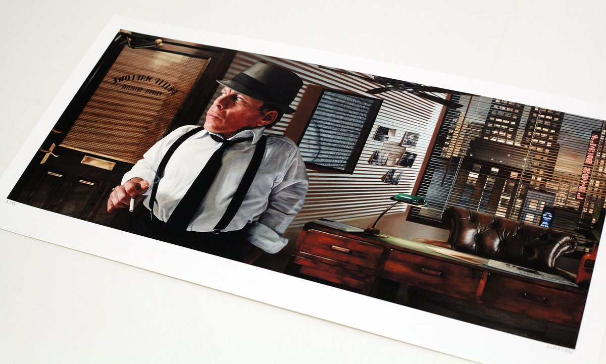 Warwick Davis as Raymond Chandler's 'Philip Marlowe' // LIMITED EDITION PRINT