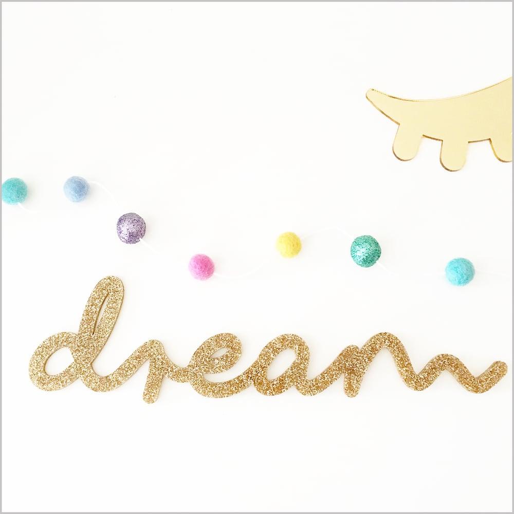 Image of Dream Glitter Sign