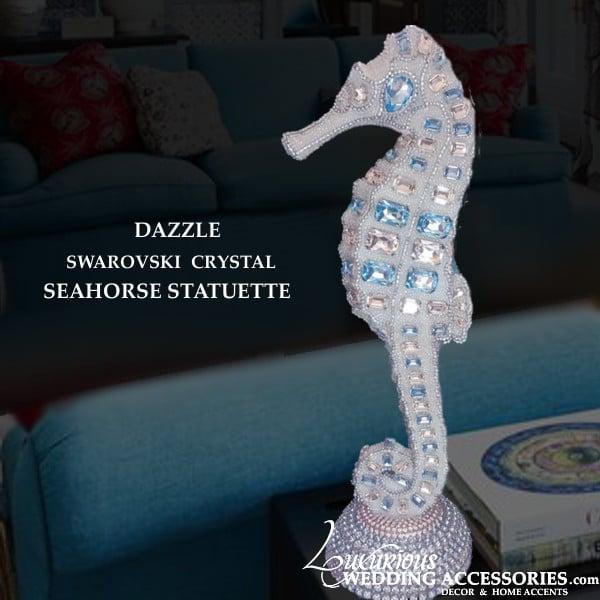 Image of Swarovski Crystal Seahorse Statuette