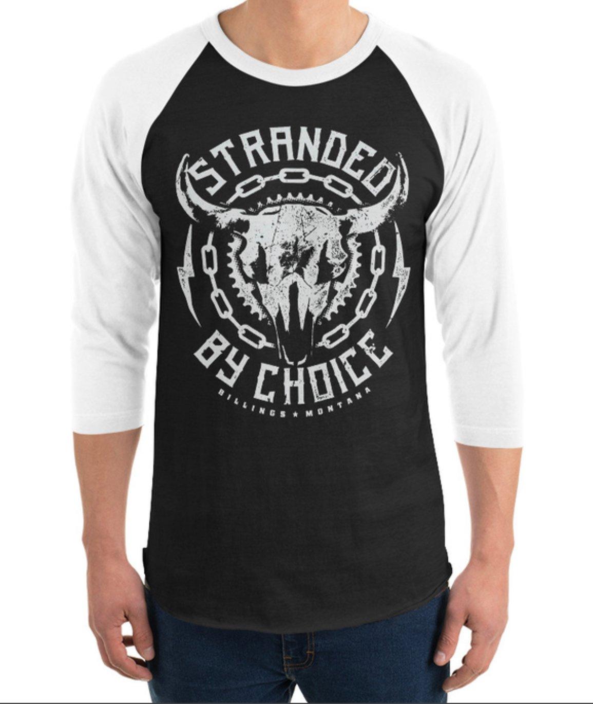 Skull Design 3/4 Sleeve Raglan Unisex Shirt