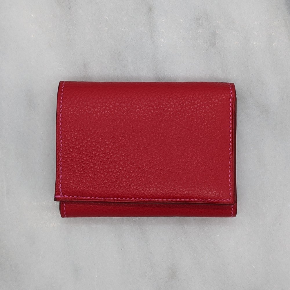 Image of SLIM TRIFOLD Wallet– Red & Pink