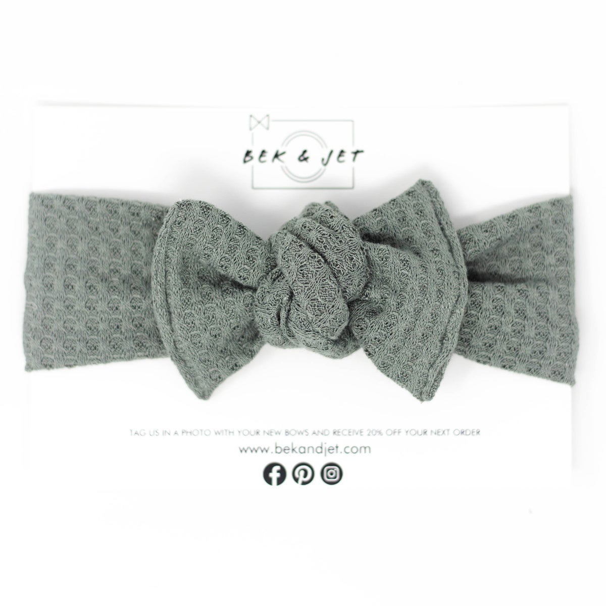 Image of Sage Waffle Knit | Headwrap