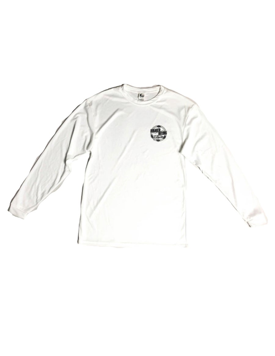 Image of White Higher Being Athletic Long Sleeve