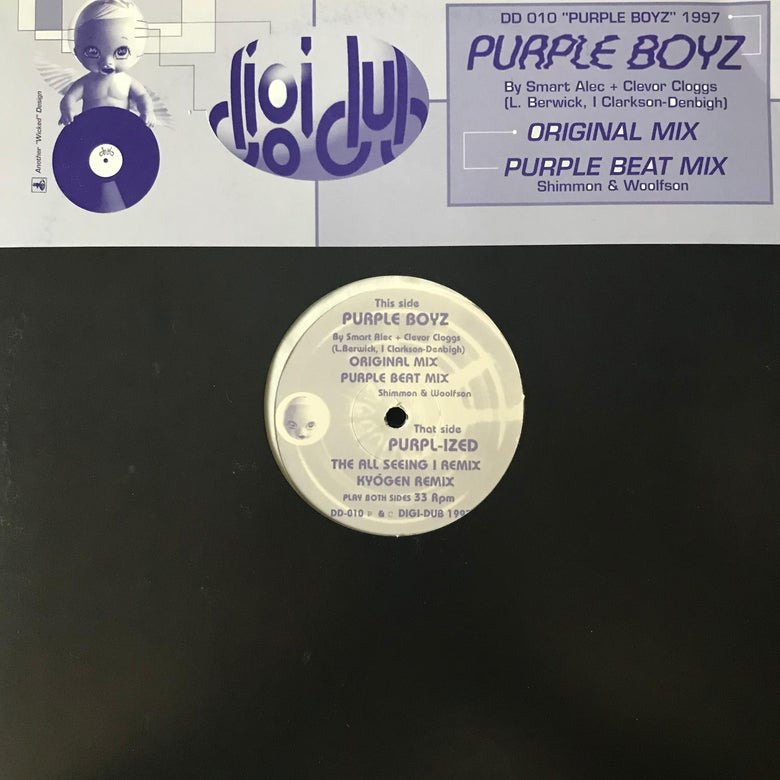 Image of Smart Alec & Clevor Cloggs - Purple Boyz 12""