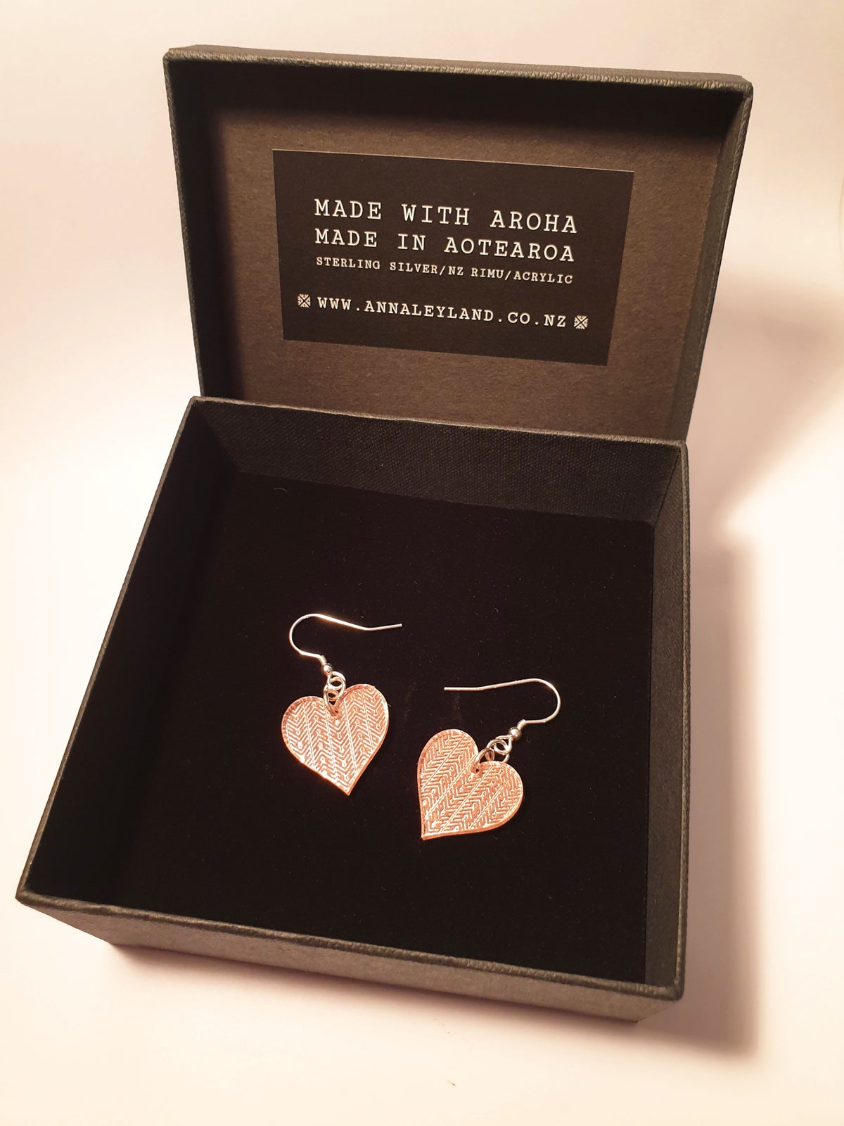 Image of Small Heart Drops in Rose Gold