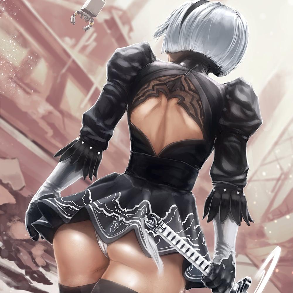 Image of YoRHa No.2 Type B, Nier Automata Poster Print