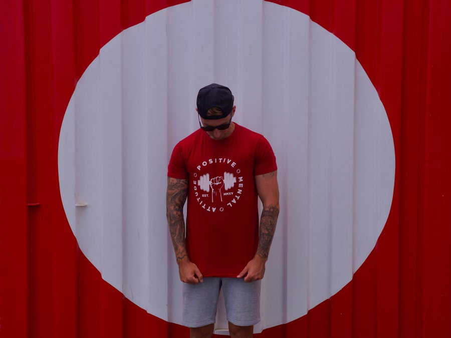 Image of PMA Fitwear 'Big Logo' Tee - Red