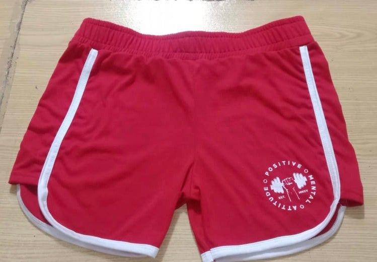 Image of PMA Fitwear Booty Shorts - Red/White