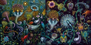 Image of SPACE PLANKTON SERIES COLLECTION • #1 & #2  SOLD TOGETHER