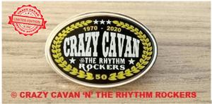 Image of NEW! CRAZY CAVAN 50th ANNIVERSARY PIN BADGE
