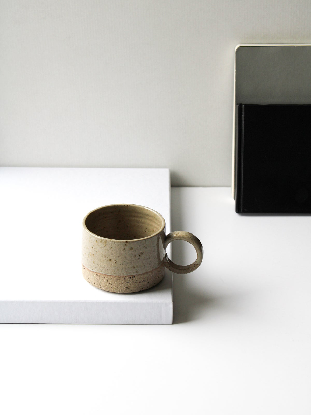 Image of handled mug in transparent