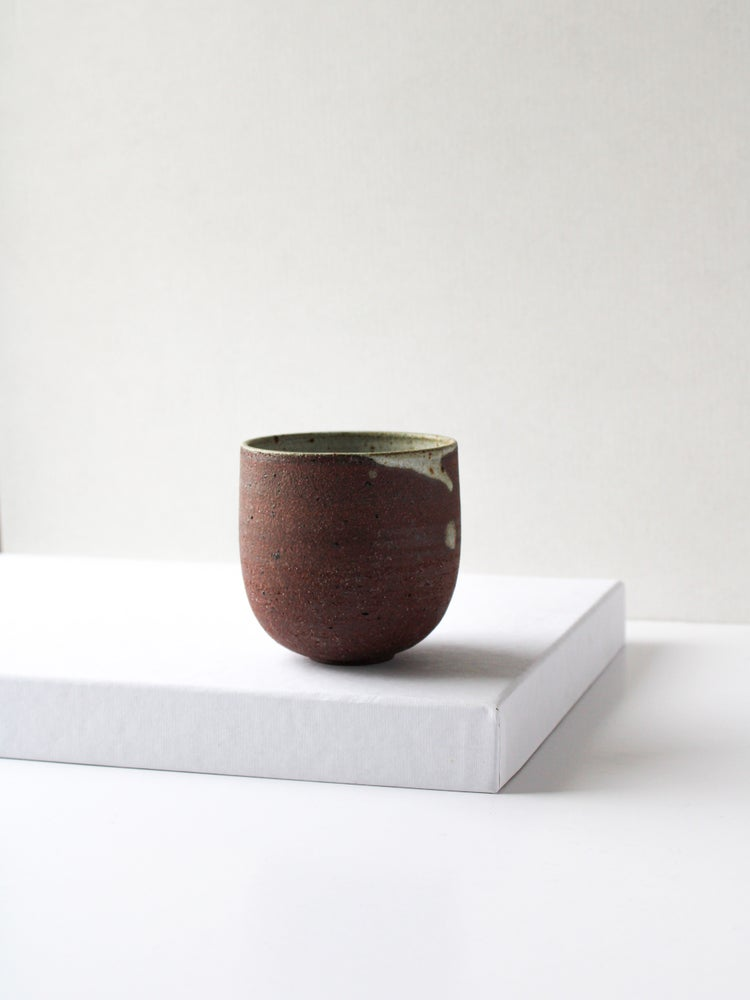 Image of medium cup in red clay