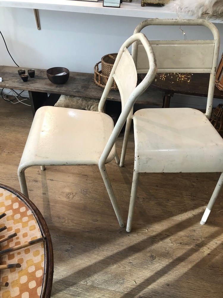 Image of Paire chaise métal