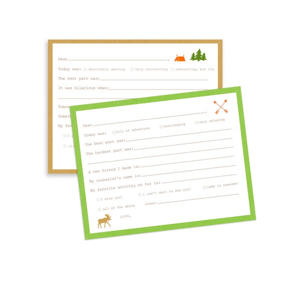 Image of Camp Fill-in-the-blank Notecards + Envelopes