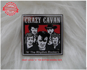Image of CRAZY CAVAN SQUARE PIN BADGE  - LOW STOCK