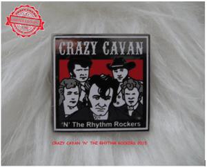 Image of CRAZY CAVAN SQUARE PIN BADGE  - LOW STOCK
