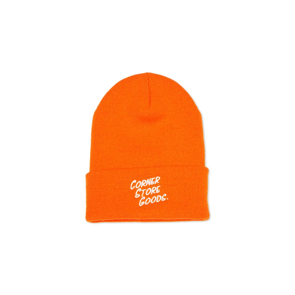 Image of Orange Logo Beanie