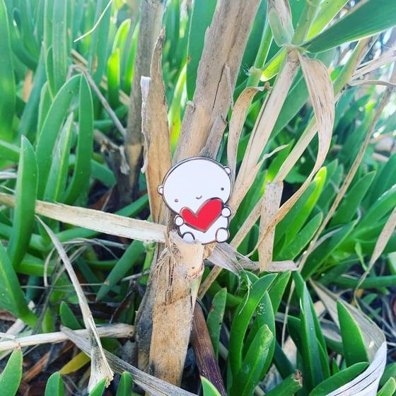 Image of ANDIE bear enamel pin / PRE-SALE