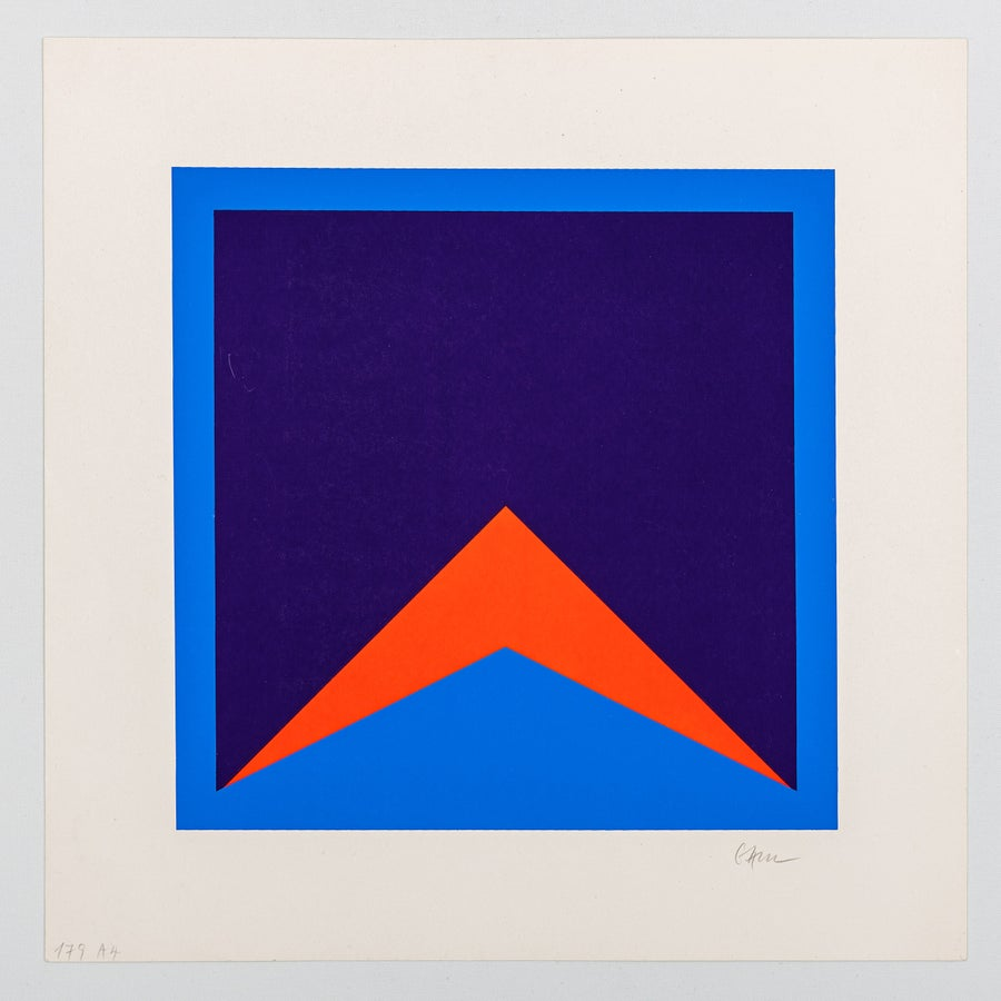 Image of Winfred Gaul, untitled, blue / orange, 1971