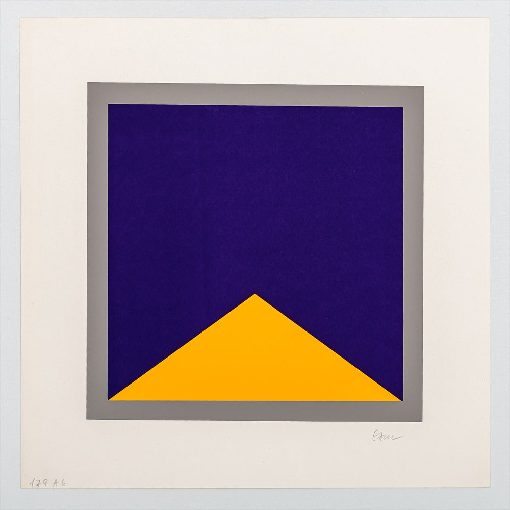 Image of Winfred Gaul, untitled, blue / yellow / grey, 1971