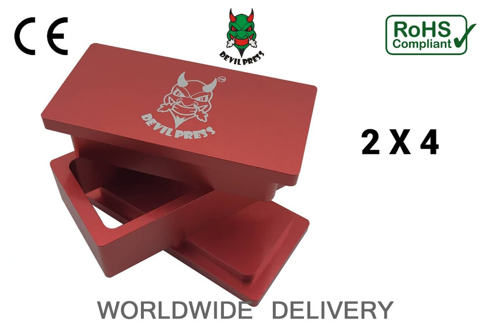 "Image of DEVILPRESS™ 2""X 4"" ROSIN PRE PRESS MOLD"