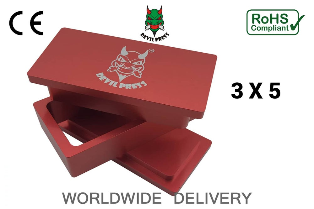 "Image of DEVILPRESS™ 3""X 5"" ROSIN PRE PRESS MOLD"