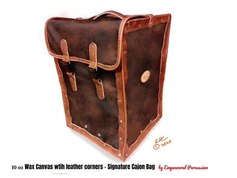 Image of Leather cajon bags