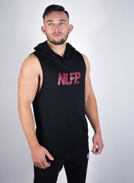 Image of SIGNATURE SLEEVELESS HOODIE BLACK