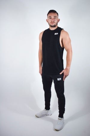 Image of STRIPE MUSCLE TANK BLACK