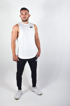 Image of STRIPE MUSCLE TANK WHITE