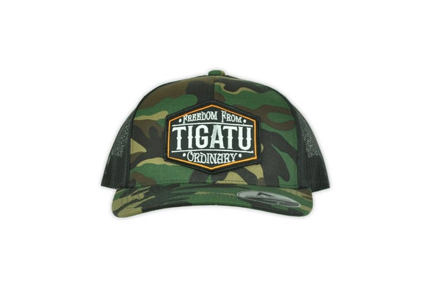 "Image of ""Freedom"" Curved Snapback - Camo"