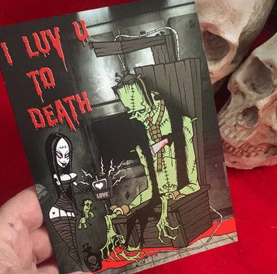 Image of I LUV U TO DEATH - greeting card
