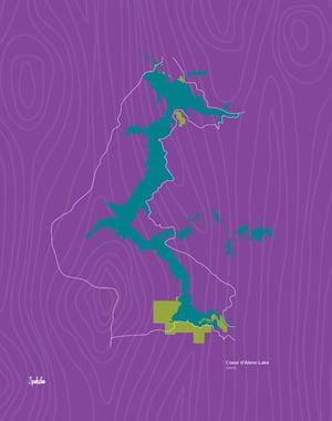 11 x 14 Coeur d'Alene Lake