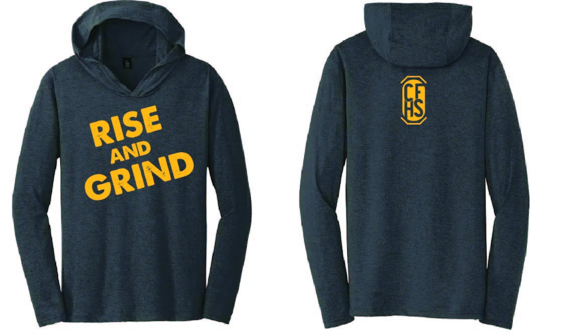 Image of CFHS Rise & Grind Long Sleeve Hooded Shirt - Multiple Colors